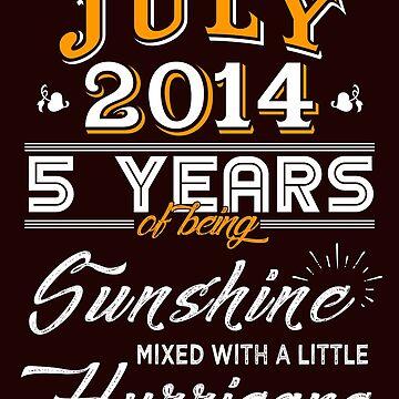 July 2014 Birthday Gifts - July 2014 Celebration Gifts - Awesome Since July 2014 by daviduy