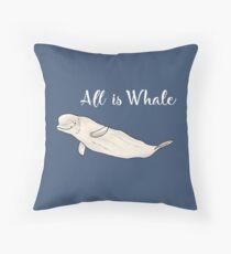 Beluga whale - Animal series Throw Pillow