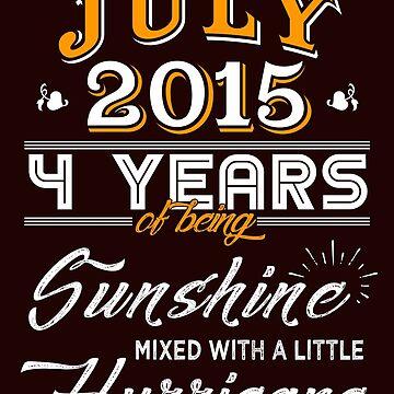 July 2015 Birthday Gifts - July 2015 Celebration Gifts - Awesome Since July 2015 by daviduy