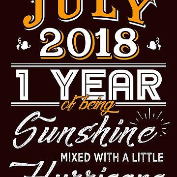 July 2018 Birthday Gifts - July 2018 Celebration Gifts - Awesome Since July 2018 by daviduy
