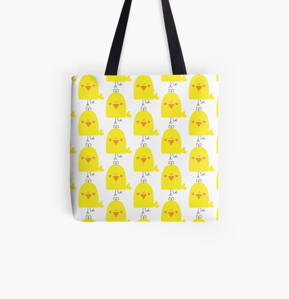 Cute Chick All Over Print Tote Bag