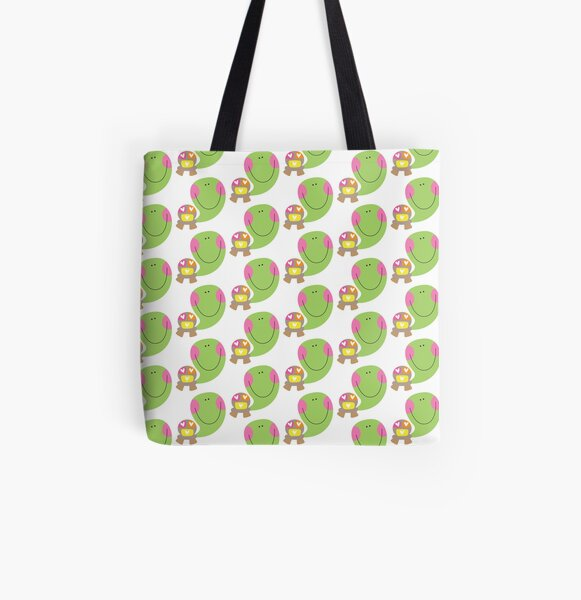 Cute Turtle All Over Print Tote Bag