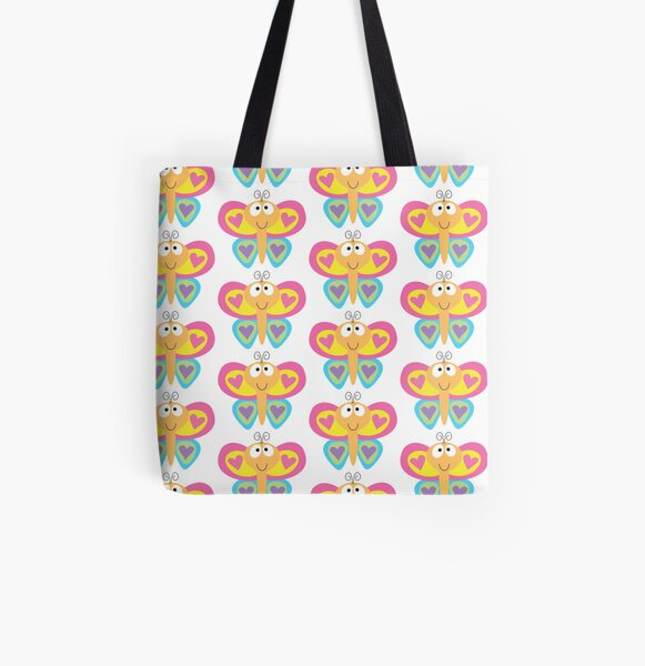 Happy Butterfly All Over Print Tote Bag