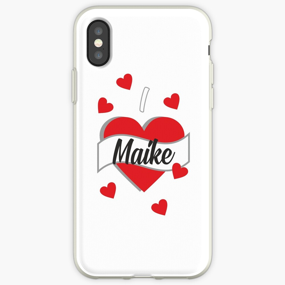 I Love Maike iPhone-Hüllen & Cover