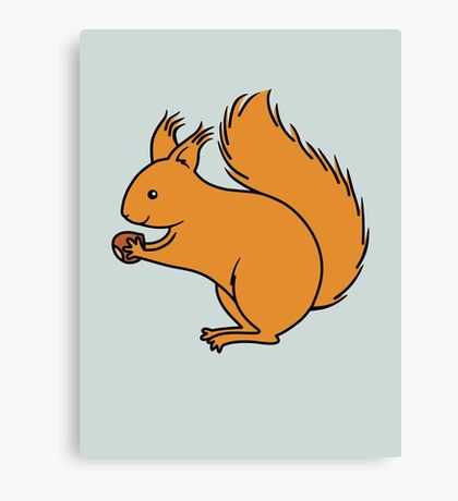 Red Squirrel with Nut Canvas Print