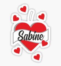 I Love Sabine Sticker