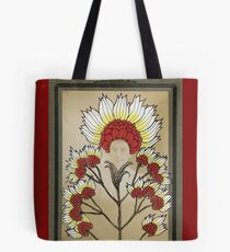 Red Flowers Bride Tote Bag