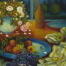 still-life with pomegranate by elisabetta trevisan