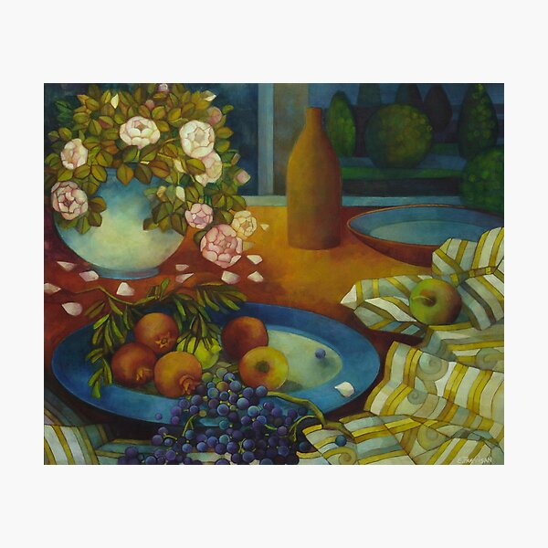 still-life with pomegranate Photographic Print