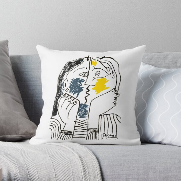 Pablo Picasso The Kiss 1979 Artwork Reproduction For T Shirt, Framed Prints Throw Pillow