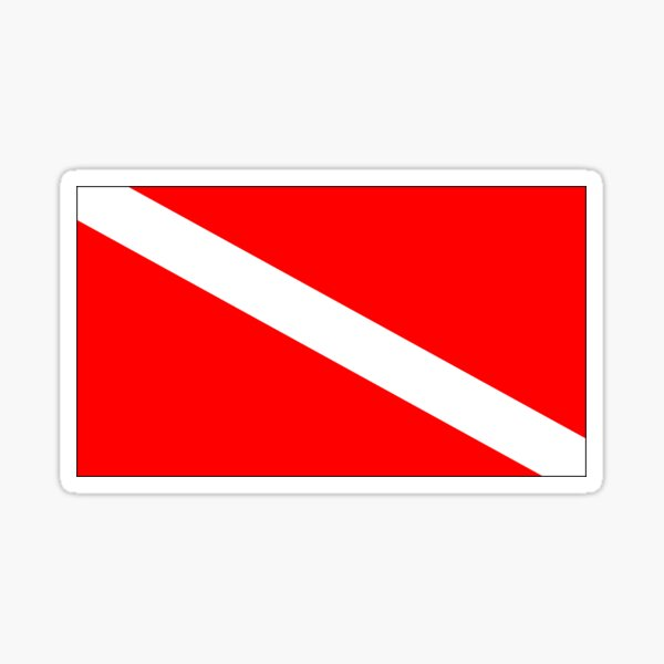 Scuba Flag Sticker