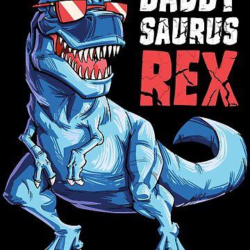 Daddysaurus camiseta regalos del día de padres T rex Daddy Saurus Men de LiqueGifts