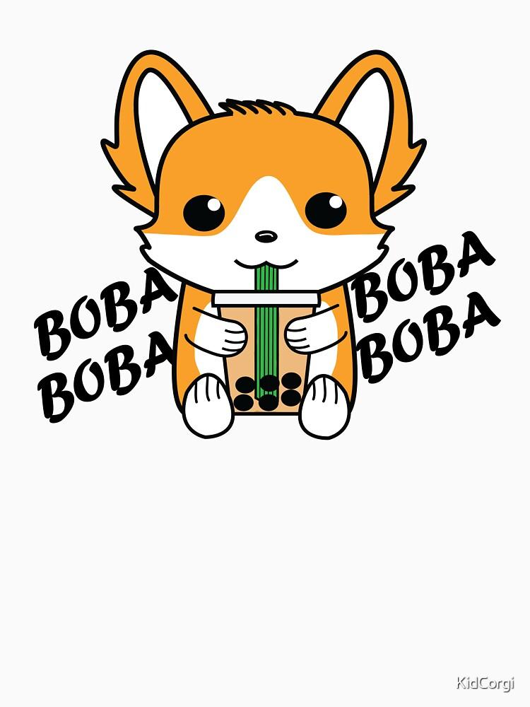 Bubble Tea Corgi Boba Corgi by KidCorgi