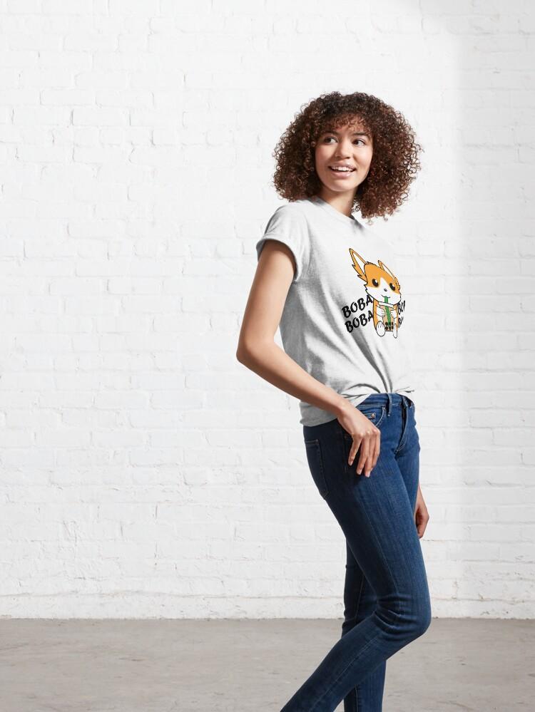 Alternate view of Bubble Tea Corgi Boba Corgi Classic T-Shirt