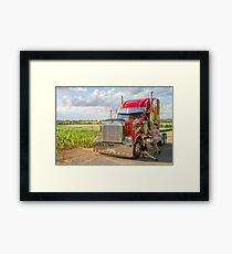 Freightliner and extras  Framed Print