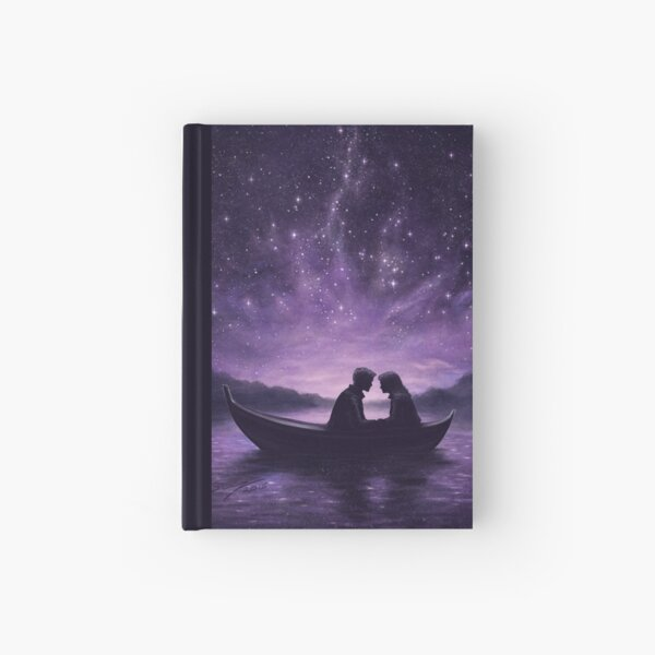 Lovers under a starlit sky Hardcover Journal