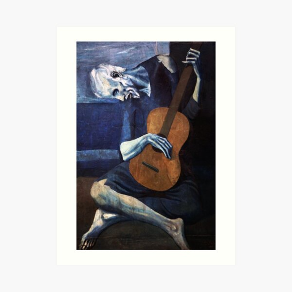 The Old Guitarrist 1904 Pablo Picasso Artwork Reproduction Art Print