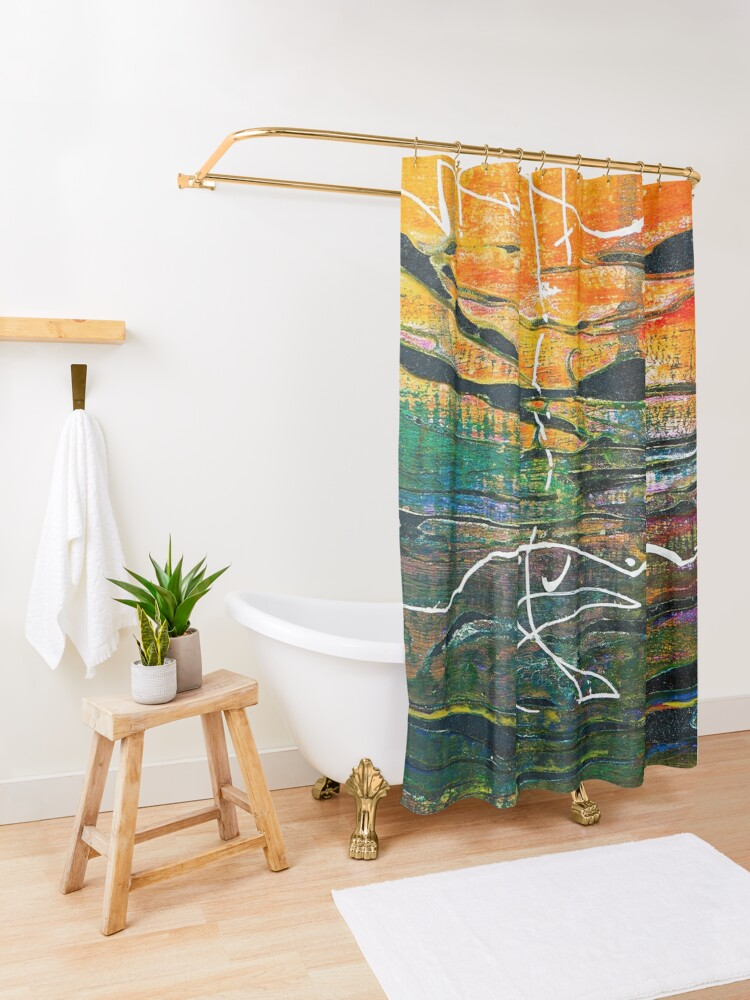 Alternate view of Gift of Patience Shower Curtain