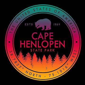 Cape Henlopen State Park Delaware Emblem by fuller-factory
