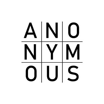 Anon Anonymous Square Grid design by GetItGiftIt