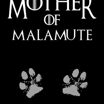 Cute Mother of Malamute dog womens shirt by handcraftline