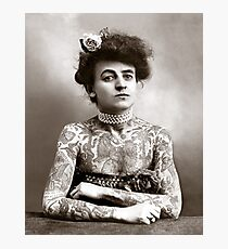 Tattooed Lady, 1907 Photographic Print