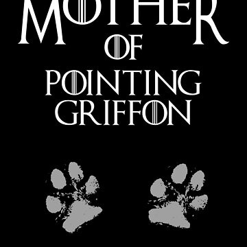 Cute Mother of Pointing Griffon, #PointingGriffon  by handcraftline