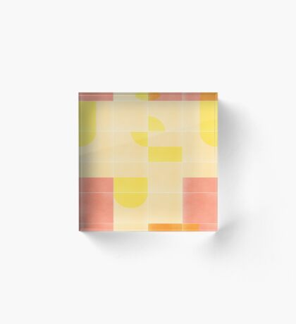 Retro Tiles 01 #redbubble #pattern Acrylic Block