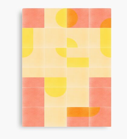 Retro Tiles 01 #redbubble #pattern Canvas Print
