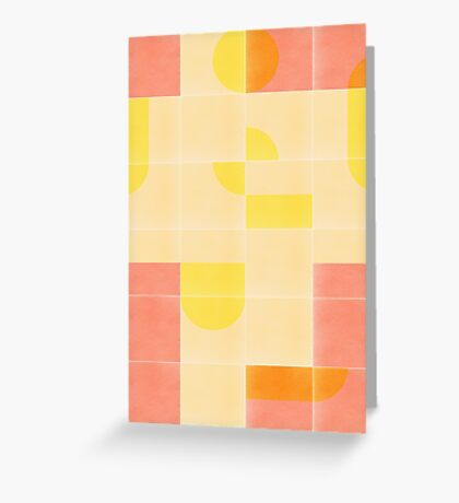 Retro Tiles 01 #redbubble #pattern Greeting Card