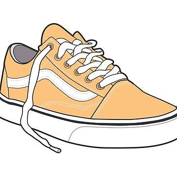 Zapato ocre popular del patinador retro del vintage de tlaprise