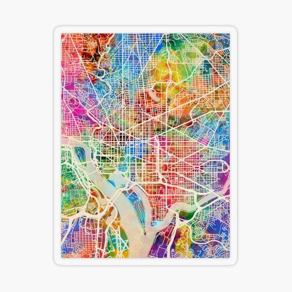 Washington DC Street Map Transparent Sticker