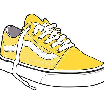 Zapato amarillo brillante popular del patinador retro del vintage de tlaprise