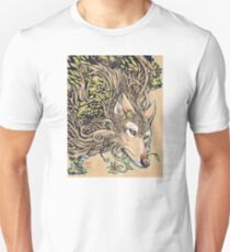 The Dog of the Mountain - Honshu wolf Unisex T-Shirt