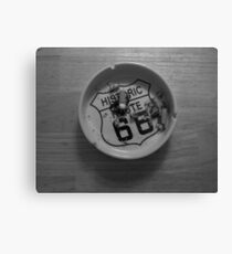 Route 66 Ashtray  Canvas Print