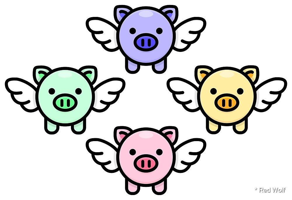 When Pigs Fly: Rainbow by * Red Wolf