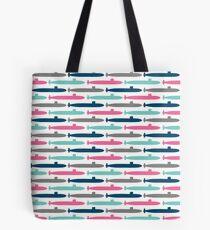 Colorful Submarine Squadron Tote Bag