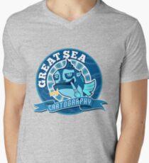 Great Sea Cartography Mens V-Neck T-Shirt