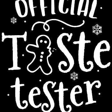 Official Taste Tester Christmas Cookie T-Shirt Kids Family by 14thFloor