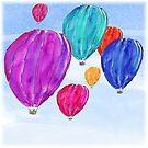 Heißluftballons von Clare Walker