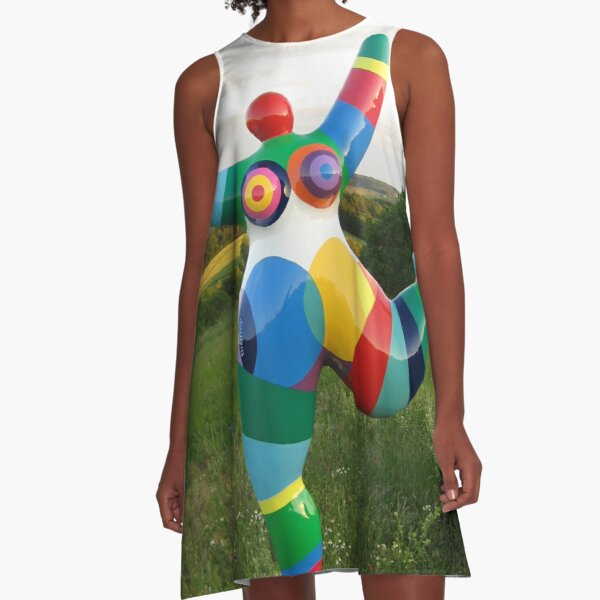 Biriney Nana - tribute to Niki de Saint Phalle A-Linien Kleid