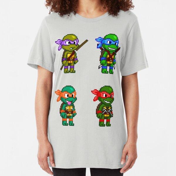 Teenage Mutant Ninja Turtles Pixels Slim Fit T-Shirt
