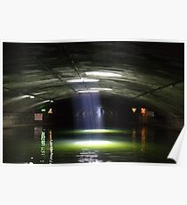 Tunnel on the Canal St Martin Poster