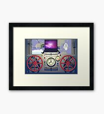 MSTC ( Manipulation of space - time continuum) machine main control panel. Framed Print