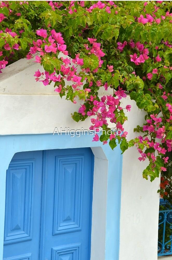 Santorini doorway by LoveAphoto