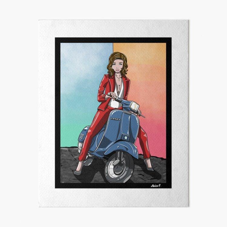 Heidi - 1978 Vespa Piaggio P125X Art Board Print