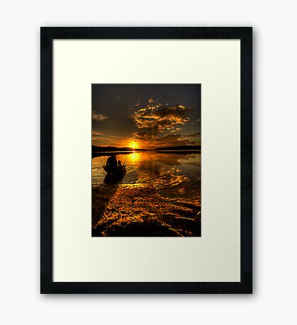 Light Tackle - Narrabeen Lakes , Sydney - The HDR Experience Framed Print