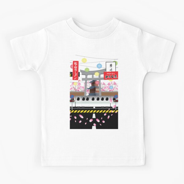Sakura Petals Kids T-Shirt