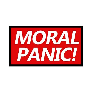 Red Top Moral Panic Bold Text design by GetItGiftIt