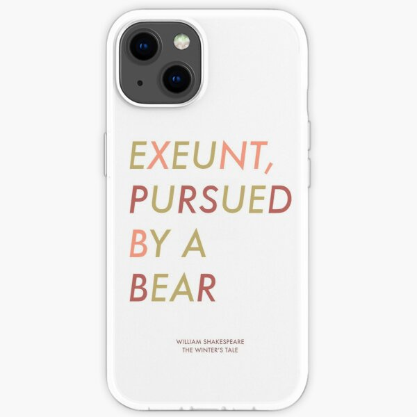 Exeunt Pursued By A Bear - Shakespeare iPhone Soft Case